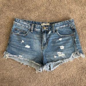 Free people jean shorts size 28